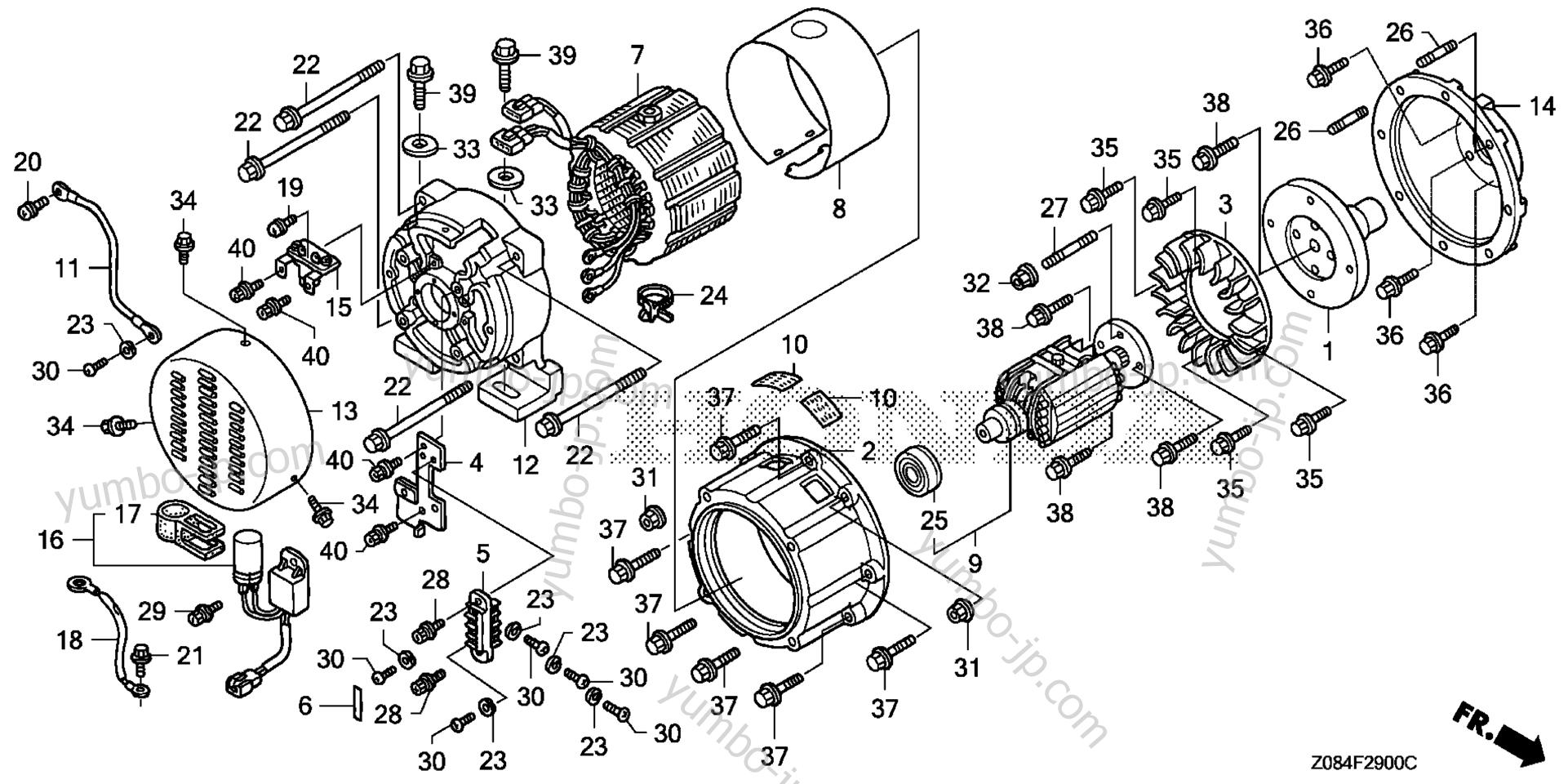 honda eu1000i generator wiring diagram