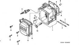 Головка блока цилиндров для двигателя HONDA GXV140 A1K