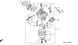 CARBURETOR (2) для двигателя HONDA GXV140 N2TB