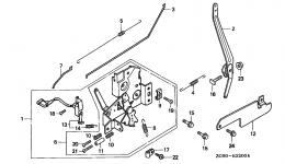 CONTROL (1) для двигателя HONDA GXV140 A1K