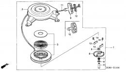 Ручной стартер для двигателя HONDA GXV140 A1K