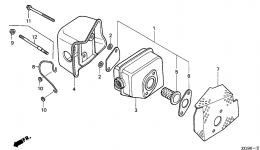 MUFFLER для двигателя HONDA GXV140 A1K