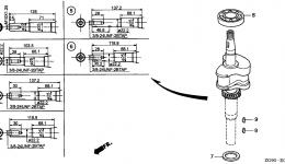 Коленвал и поршневая группа для двигателя HONDA GXV140 A1K