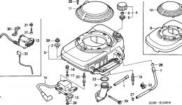 Крышка вентилятора для двигателя HONDA GXV140 A1K