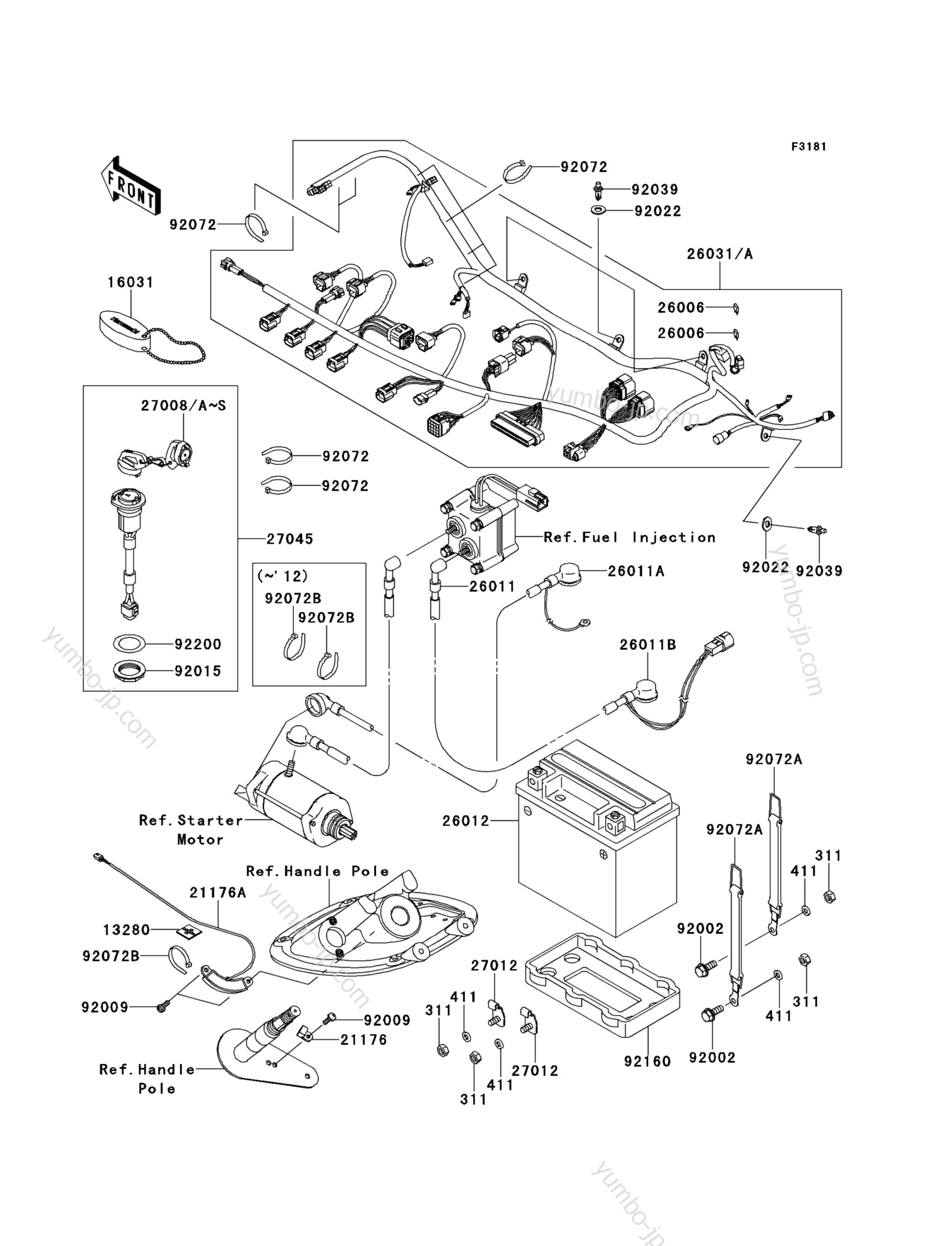 Electrical Equipment для гидроциклов KAWASAKI JET SKI STX-15F (JT1500ADF) 2013 г.