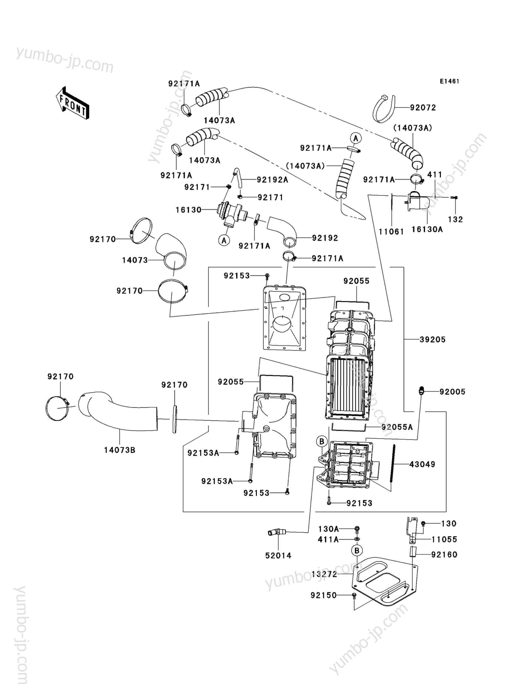 Inter Cooler для гидроциклов KAWASAKI JET SKI ULTRA 300X (JT1500HCF) 2012 г.