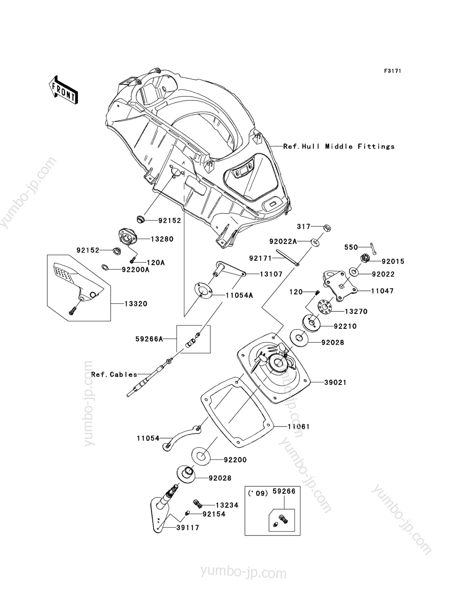 Handle Pole для гидроциклов KAWASAKI JET SKI ULTRA 260LX (JT1500F9F) 2009 г.