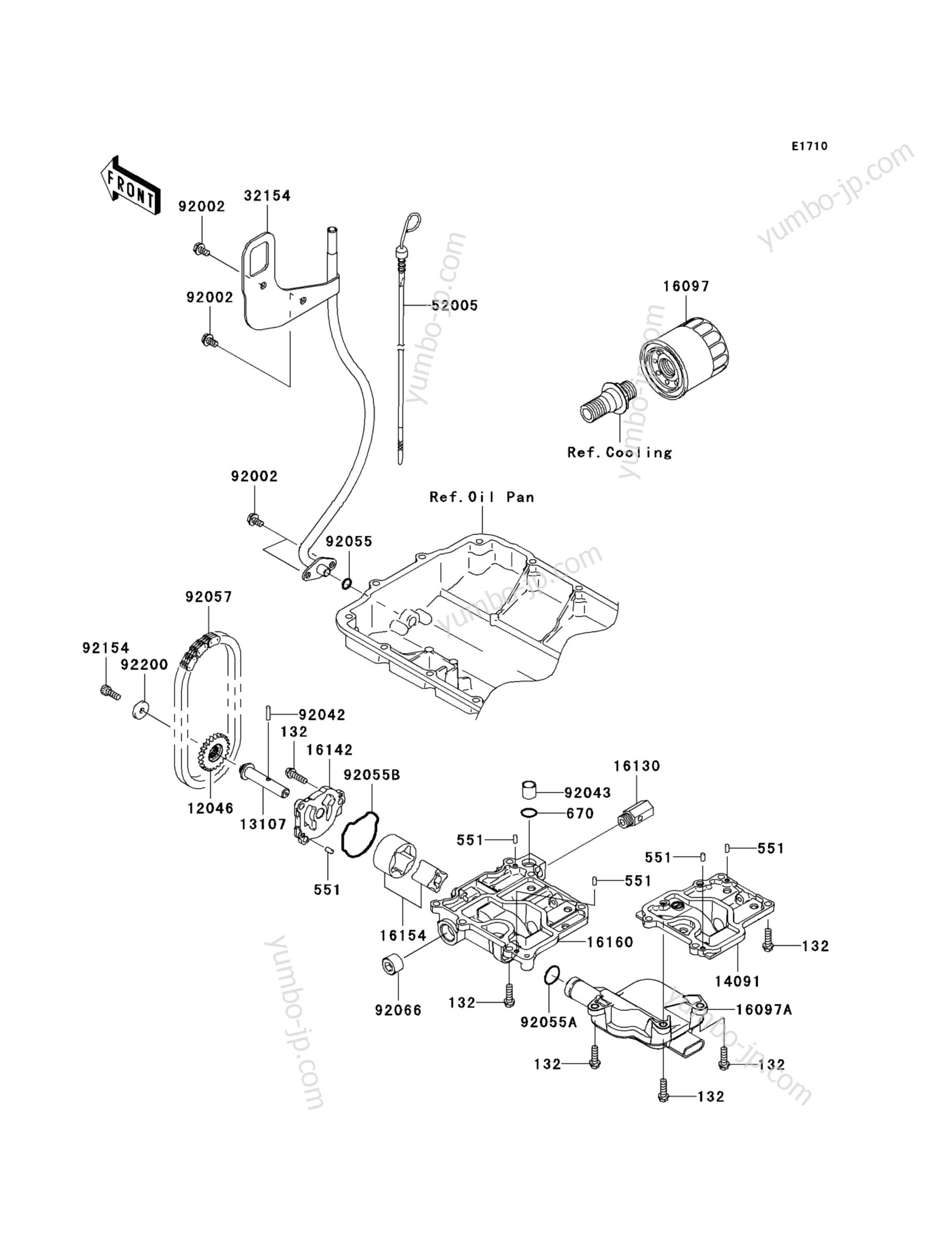 Масляный насос для гидроциклов KAWASAKI JET SKI ULTRA 300X (JT1500HBFA) 2011 г.