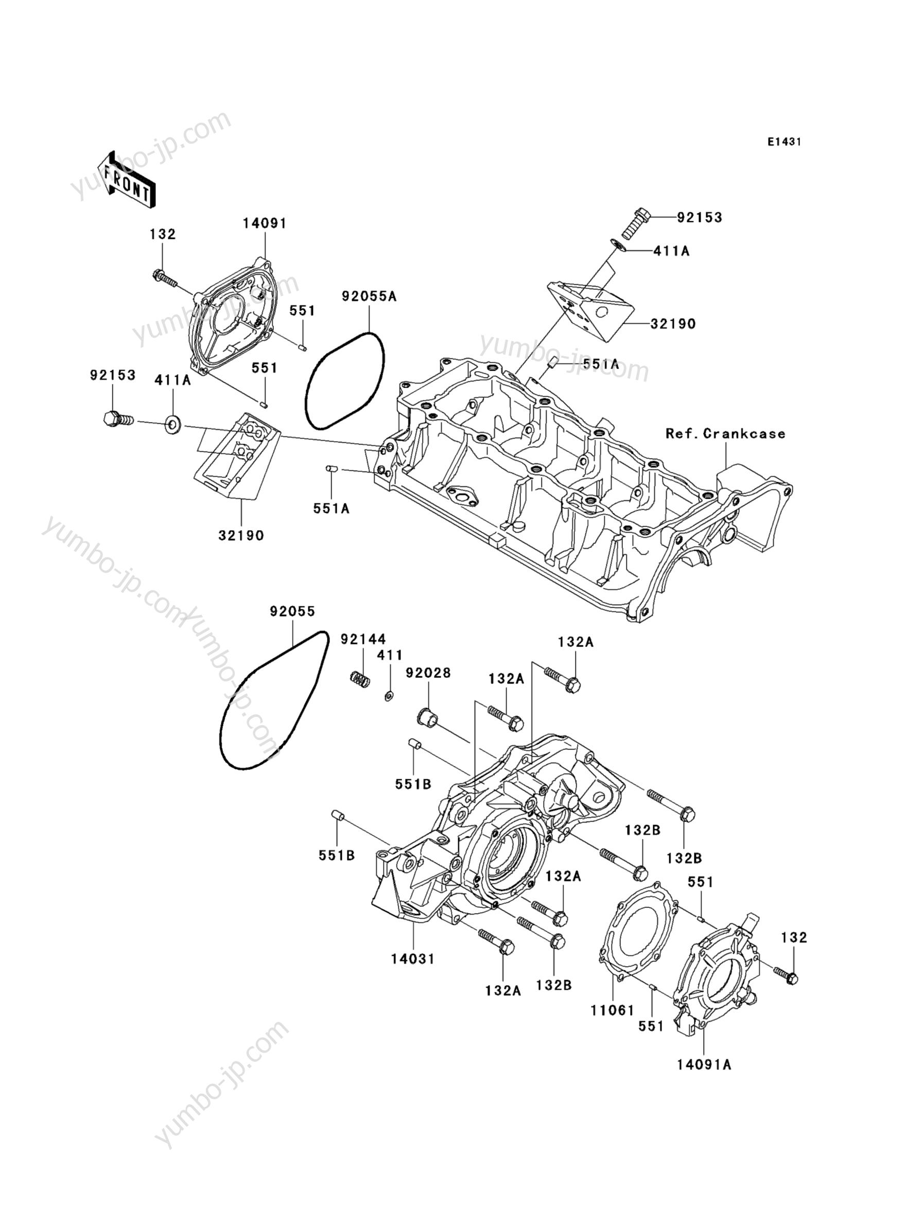 Engine Cover(s) для гидроциклов KAWASAKI JET SKI ULTRA 260LX (JT1500F9F) 2009 г.