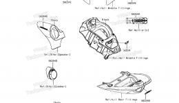 Decals(MGF) для гидроцикла KAWASAKI JET SKI ULTRA 310LX (JT1500MGF) 2016 г.
