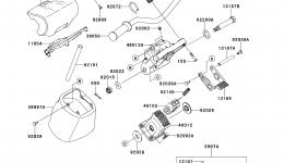 Румпель (рукоятка управления) для гидроцикла KAWASAKI JET SKI ULTRA LX (JT1500KCF) 2012 г.