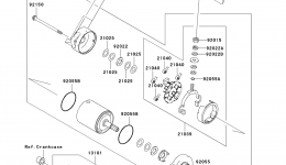 Стартер для гидроцикла KAWASAKI JET SKI STX (JT1500DAF) 2010 г.