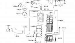 Inter Cooler для гидроцикла KAWASAKI JET SKI ULTRA 300X (JT1500HCFA) 2012 г.