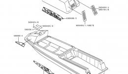 Labels(JS550-C3/C4/C5) для гидроцикла KAWASAKI JS550-C4 1994 г.