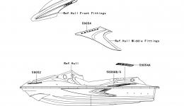 Decals(F.Red)(A8F)(US) для гидроцикла KAWASAKI JET SKI STX-15F (JT1500A8F) 2008 г.