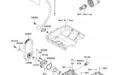 Масляный насос для гидроцикла KAWASAKI JET SKI ULTRA 300X (JT1500HCFA) 2012 г.