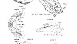 Decals(GAF) для гидроцикла KAWASAKI JET SKI ULTRA LX (JT1500GAF) 2010 г.