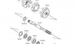 DRIVE SHAFT для гидроцикла KAWASAKI JS550-B1 1990 г.