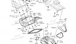 Hull Middle Fittings для гидроцикла KAWASAKI JET SKI ULTRA 310X (JT1500LHF) 2017 г.