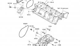 Engine Cover(s) для гидроцикла KAWASAKI JET SKI ULTRA 260X (JT1500E9F) 2009 г.