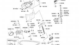 Hull Front Fittings для гидроцикла KAWASAKI JET SKI STX-15F (JT1500ADF)2013 г.