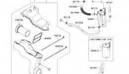Intake Silencer для гидроцикла KAWASAKI JET SKI ULTRA 300X (JT1500HDF) 2013 г.