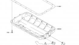 Масляный поддон для гидроцикла KAWASAKI JET SKI STX (JT1500DAF) 2010 г.