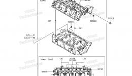 Крышка картера для гидроцикла KAWASAKI JET SKI ULTRA 310LX (JT1500MFF) 2015 г.