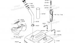 Топливный бак для гидроцикла KAWASAKI JET SKI ULTRA 310X (JT1500PEF) 2014 г.
