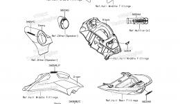 Decals(MEF) для гидроцикла KAWASAKI JET SKI ULTRA 310LX (JT1500MEF) 2014 г.