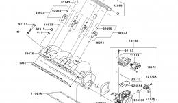 THROTTLE для гидроцикла KAWASAKI JET SKI ULTRA LX (JT1500C8F) 2008 г.