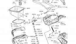 Hull Front Fittings для гидроцикла KAWASAKI JET SKI ULTRA 310X (JT1500LHF) 2017 г.