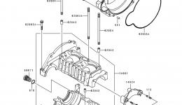 Крышка картера для гидроцикла KAWASAKI JS550-C4 1994 г.