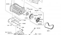 Super Charger(∼US-KAW90605 09) для гидроцикла KAWASAKI JET SKI ULTRA 260LX (JT1500F9F)2009 г.