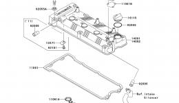 Крышка головки блока цилиндров для гидроцикла KAWASAKI JET SKI STX-15F (JT1500ADF)2013 г.