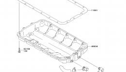 Масляный поддон для гидроцикла KAWASAKI JET SKI STX-15F (JT1500ADF)2013 г.