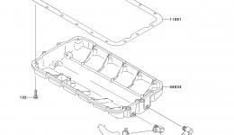 Масляный поддон для гидроцикла KAWASAKI JET SKI ULTRA LX (JT1500C7F) 2007 г.