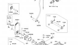Масляный насос для гидроцикла KAWASAKI JET SKI STX-15F (JT1500ADF)2013 г.