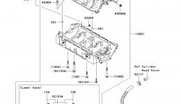 Крышка картера для гидроцикла KAWASAKI JET SKI STX (JT1500DAF) 2010 г.