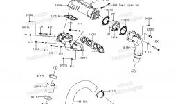 Muffler(s) для гидроцикла KAWASAKI JET SKI ULTRA 310X (JT1500PEF) 2014 г.