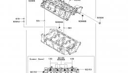 Крышка картера для гидроцикла KAWASAKI JET SKI ULTRA 300X (JT1500HCFA) 2012 г.