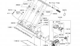 THROTTLE для гидроцикла KAWASAKI JET SKI STX-15F (JT1500AAF) 2010 г.