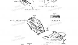 Decals(LFF) для гидроцикла KAWASAKI JET SKI ULTRA 310X (JT1500LFF) 2015 г.
