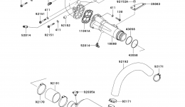Muffler(s) для гидроцикла KAWASAKI JET SKI STX (JT1500DAF) 2010 г.
