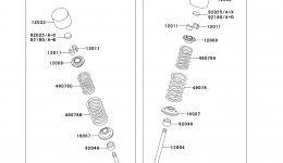 Valve(s) для гидроцикла KAWASAKI JET SKI ULTRA 260X (JT1500E9F) 2009 г.