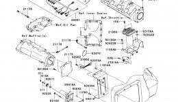 Fuel Injection для гидроцикла KAWASAKI JET SKI ULTRA 260LX (JT1500F9F)2009 г.