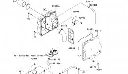 Intake Silencer для гидроцикла KAWASAKI JET SKI STX-15F (JT1500ADF)2013 г.