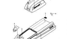 LABELS (JS550-A8) для гидроцикла KAWASAKI JST SKI 550 (JS550-A8) 1989 г.