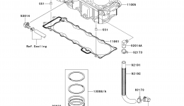 Cylinder/Piston(s) для гидроцикла KAWASAKI JET SKI STX-15F (JT1500ADF)2013 г.