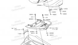 SEAT для гидроцикла KAWASAKI JET SKI ULTRA 310LX (JT1500MFF) 2015 г.